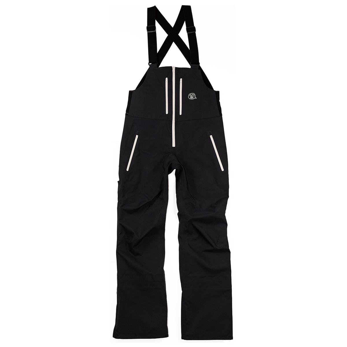 unfudge snow wear / SMOKE BIB PANTS / BLACK // 1920SBB