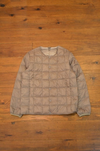 TAION / CREW NECK BUTTON DOWN JACKET