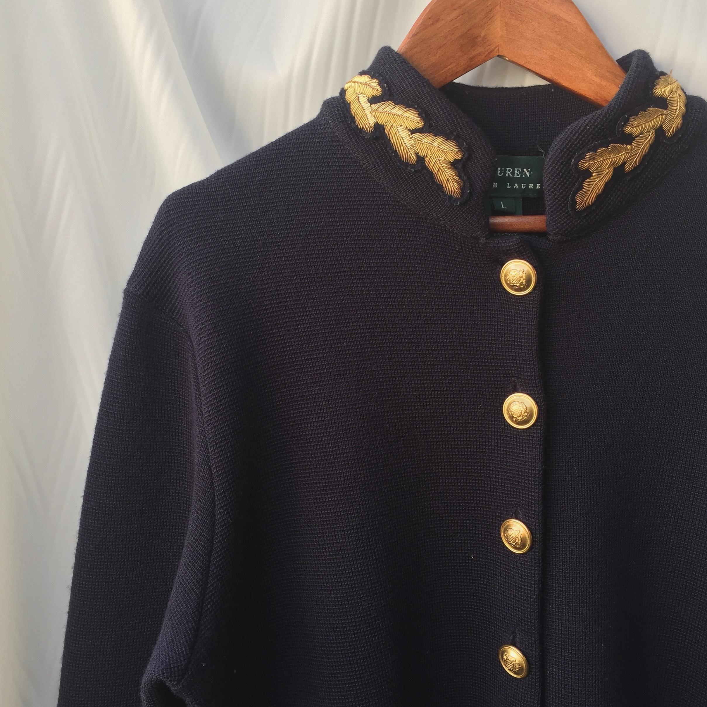 vintage Ralph Lauren wool knit cardigan