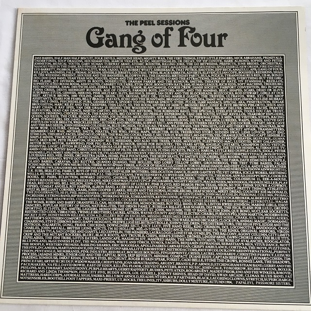 【12inch・英盤】Gang Of Four / THE PEEL SESSIONS