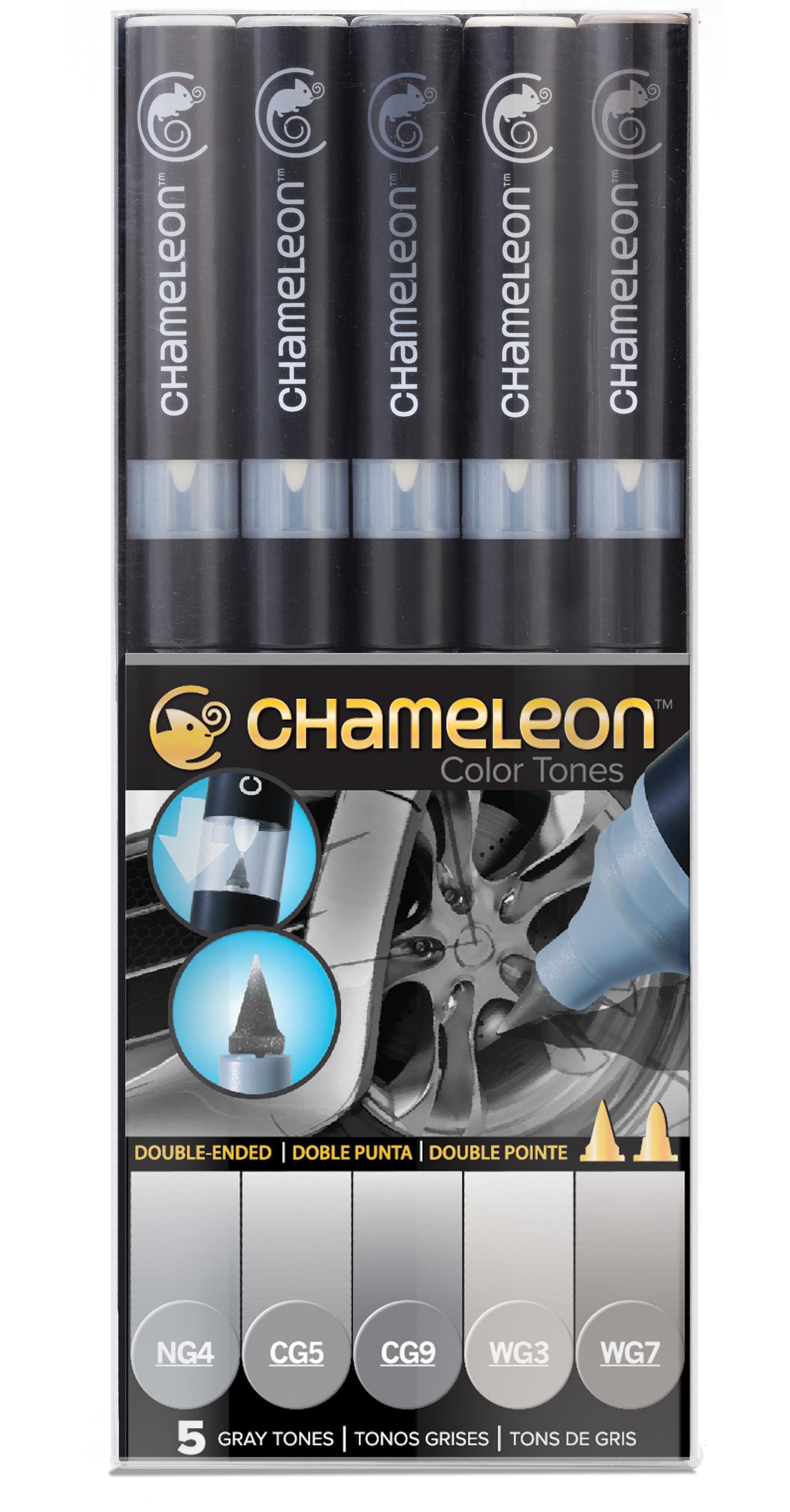 Chameleon Pen 5 Pen Gray Set (カメレオンペン 5本入りグレーセット)