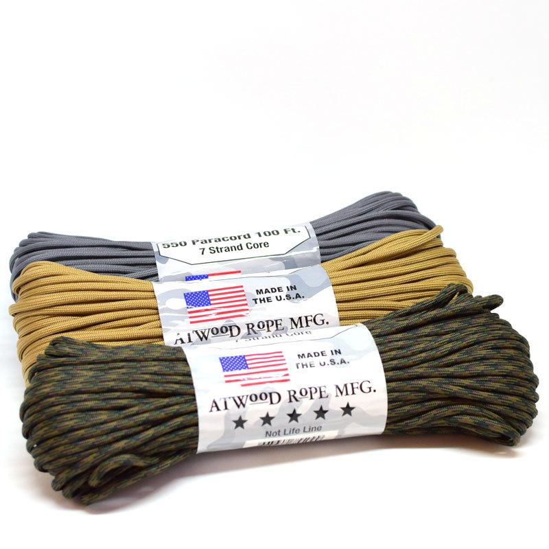 Atwood Rope MFG(アトウッドロープ)パラコード 30m