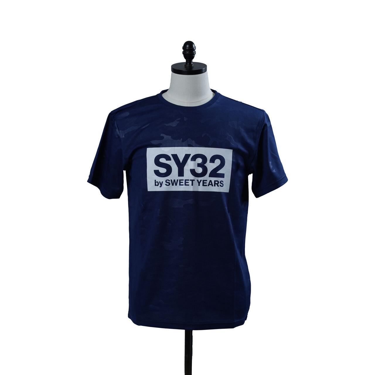 SY32 【REGULAR】EMBOSS CAMO BOX LOGO TEE(6640)