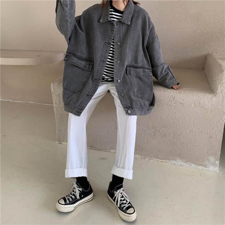 【送料無料】ビックシルエット ♡ カジュアル オーバーサイズ デニム シャツ ジャケット Gジャン アウター