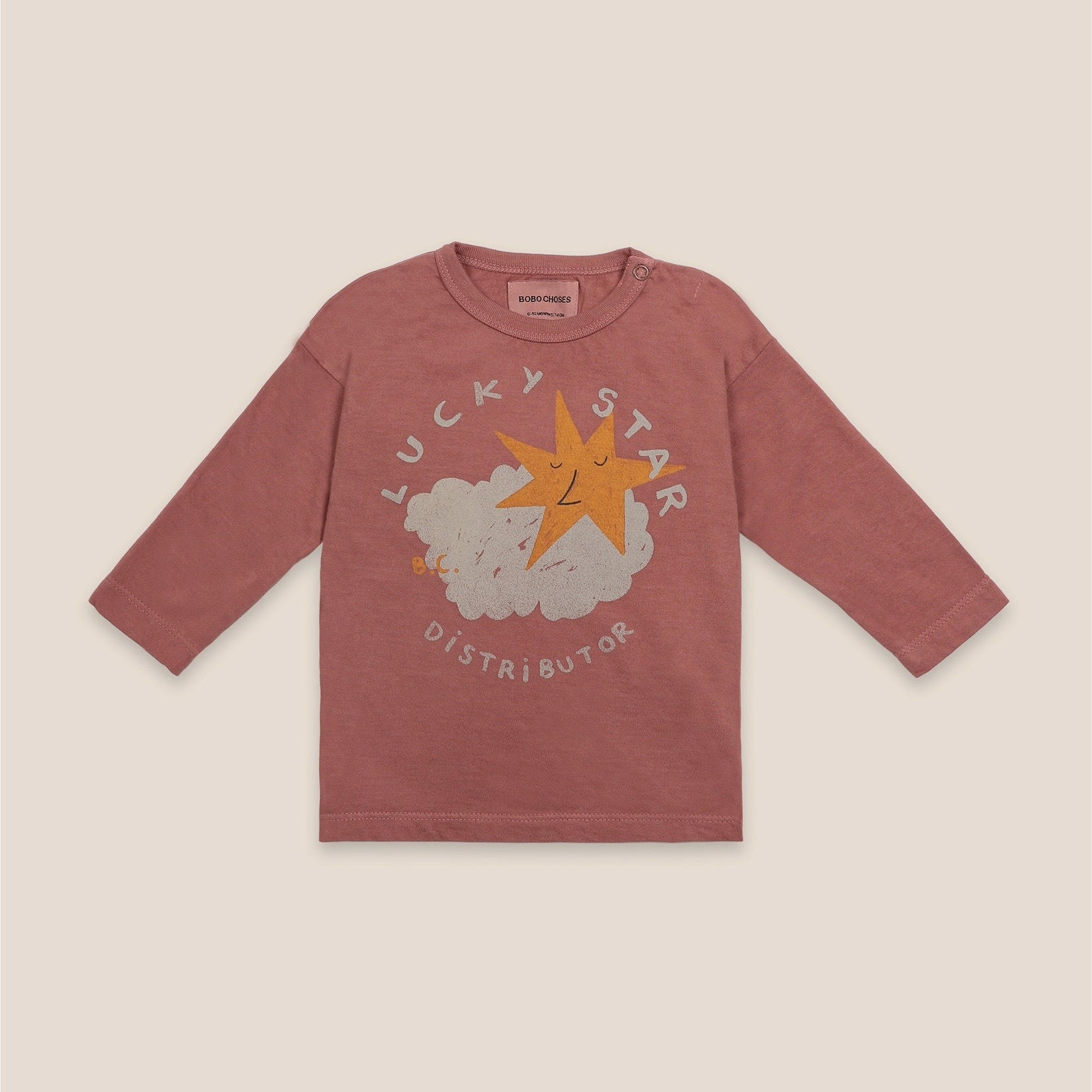 《BOBO CHOSES 2020AW》Lucky Star long sleeve T-shirt / 6-36M