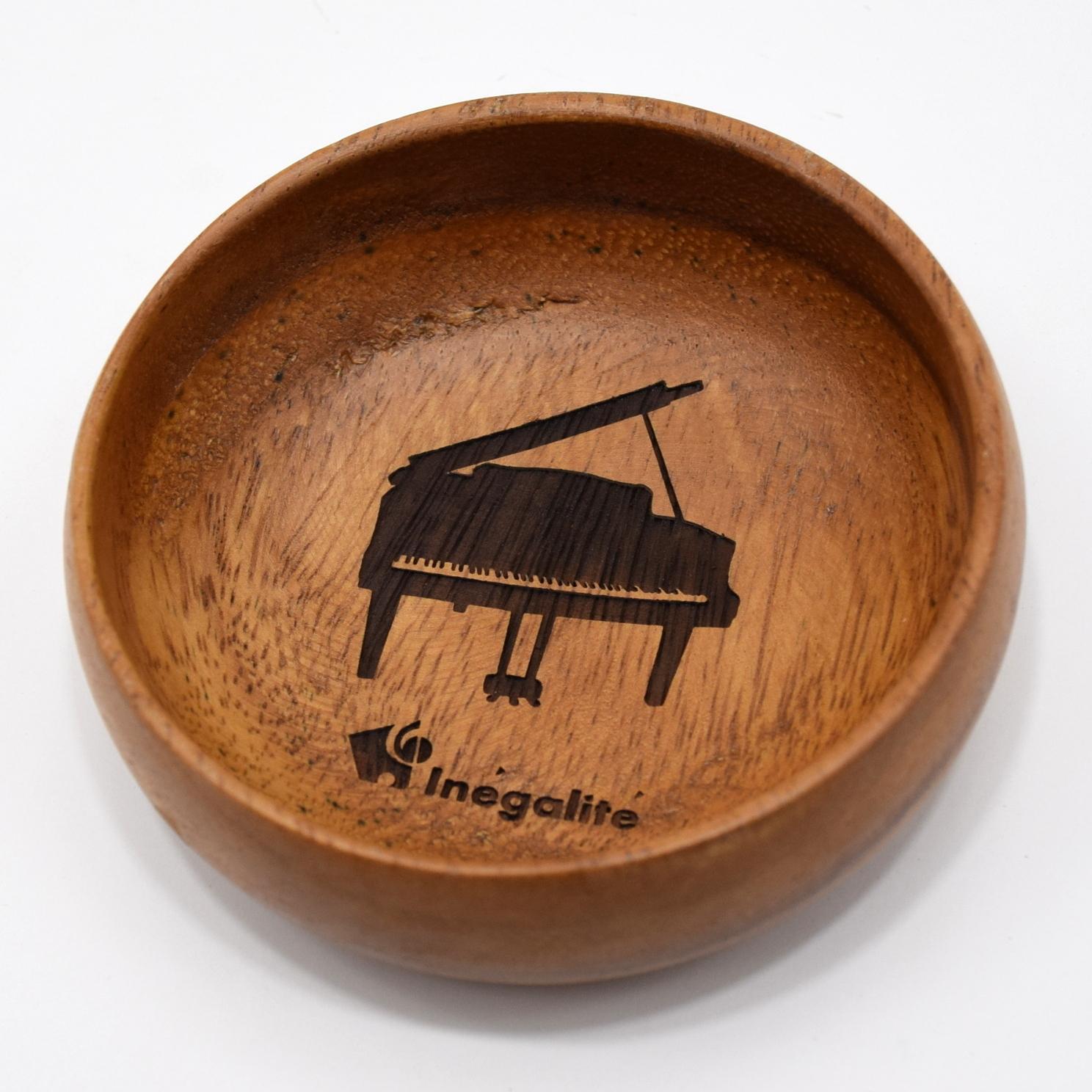 [10個セット]アカシアボウル『ピアノ・ロゴ入り』 ~発表会記念品として♪~