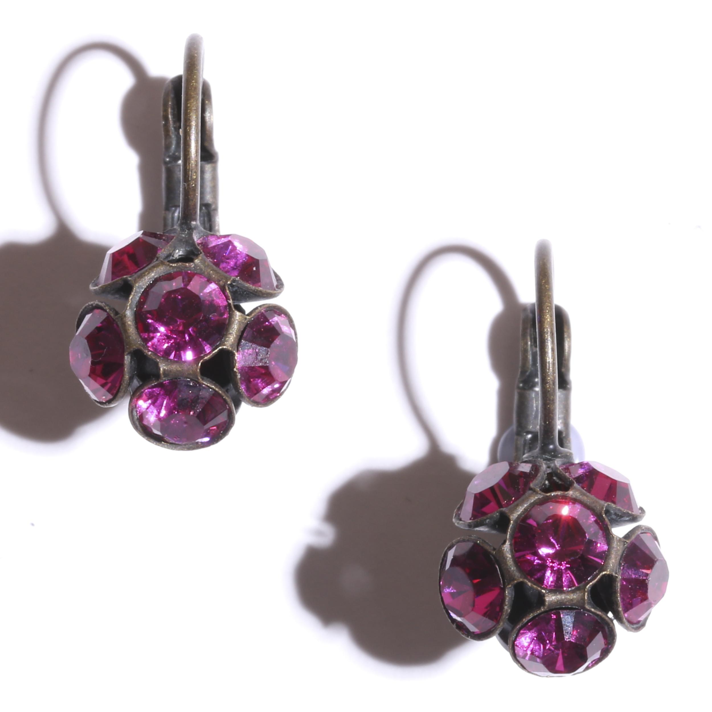 disco ball ピアス  purplepink