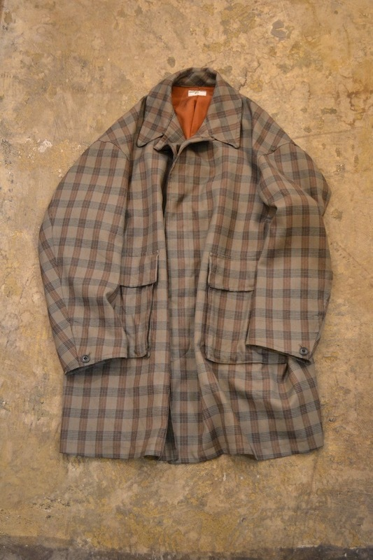 HOMELESS TAILOR / CHECK PLAIN COAT