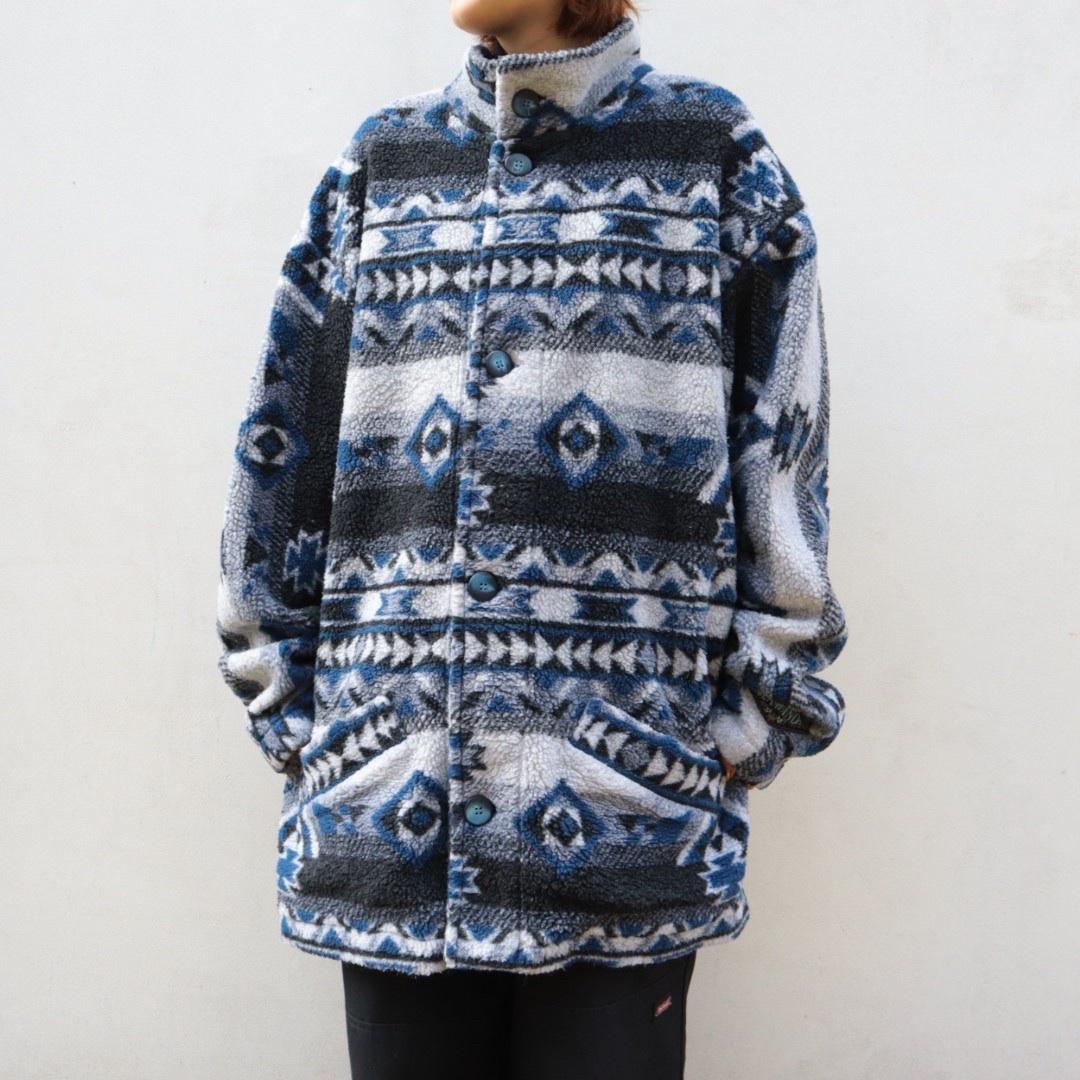big silhouette fleece coat