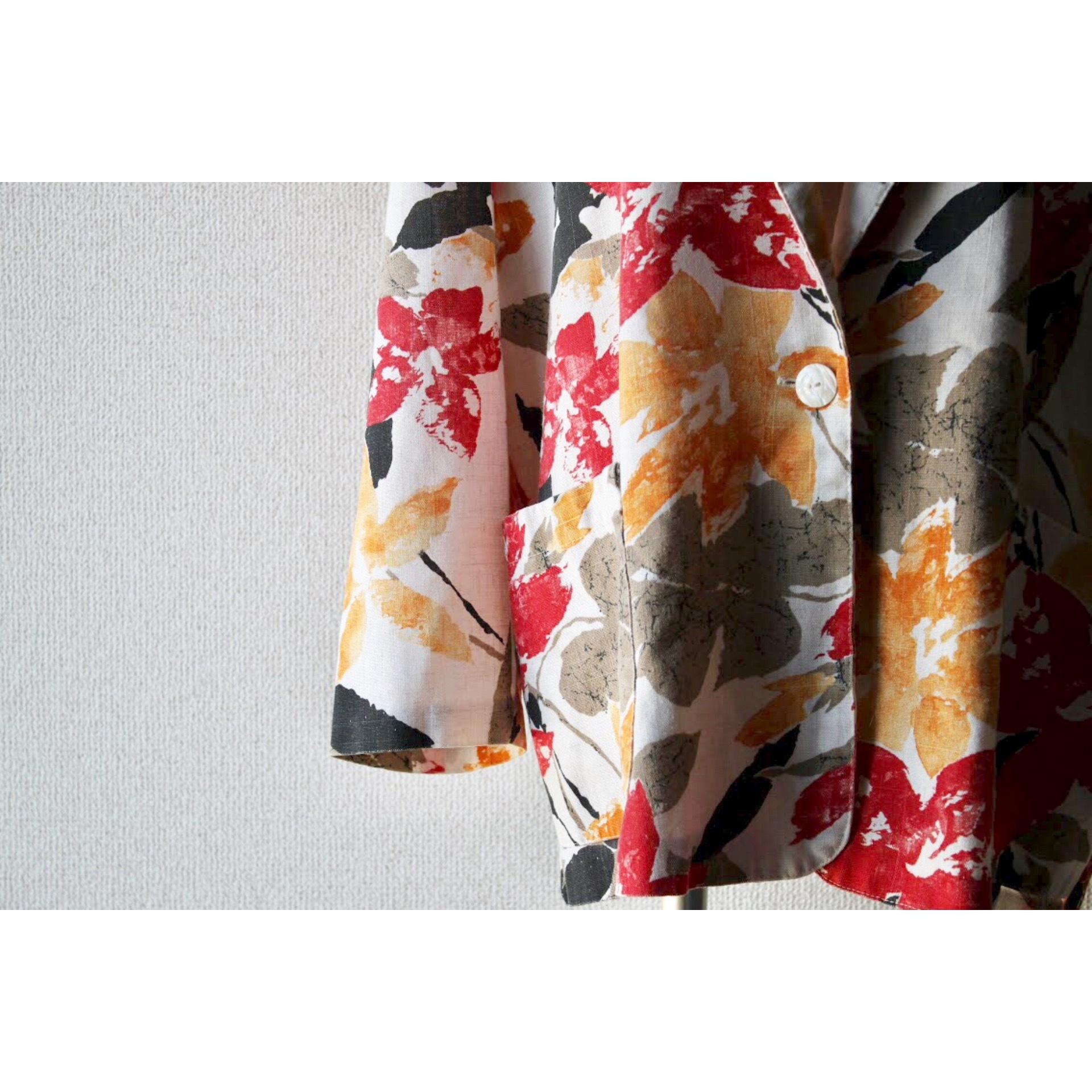 Vintage flower print jacket