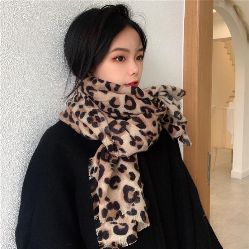 〈カフェシリーズ〉辛口レオパードマフラー【hot leopard muffler】