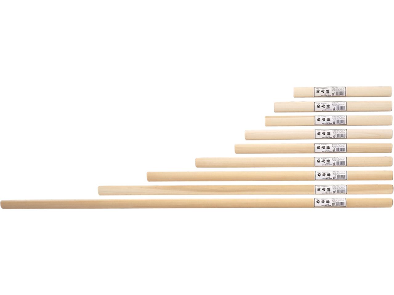 木製 「ほおの木 めん棒 75cm」