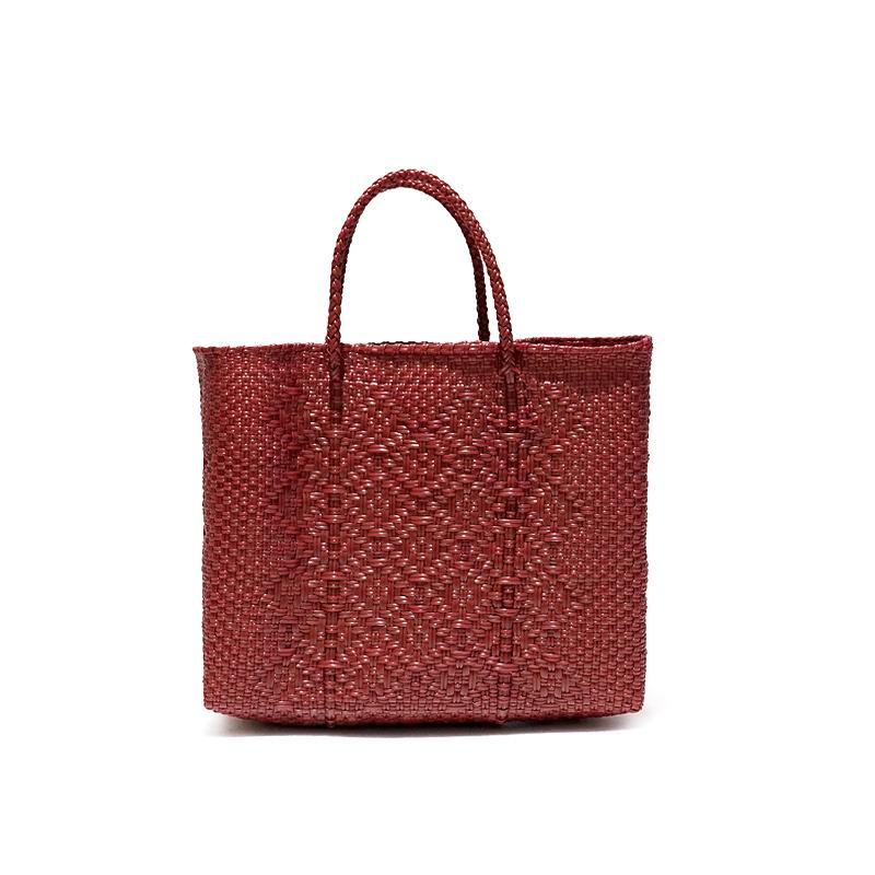 MERCADO BAG ROMBO - Dark Red(XS)