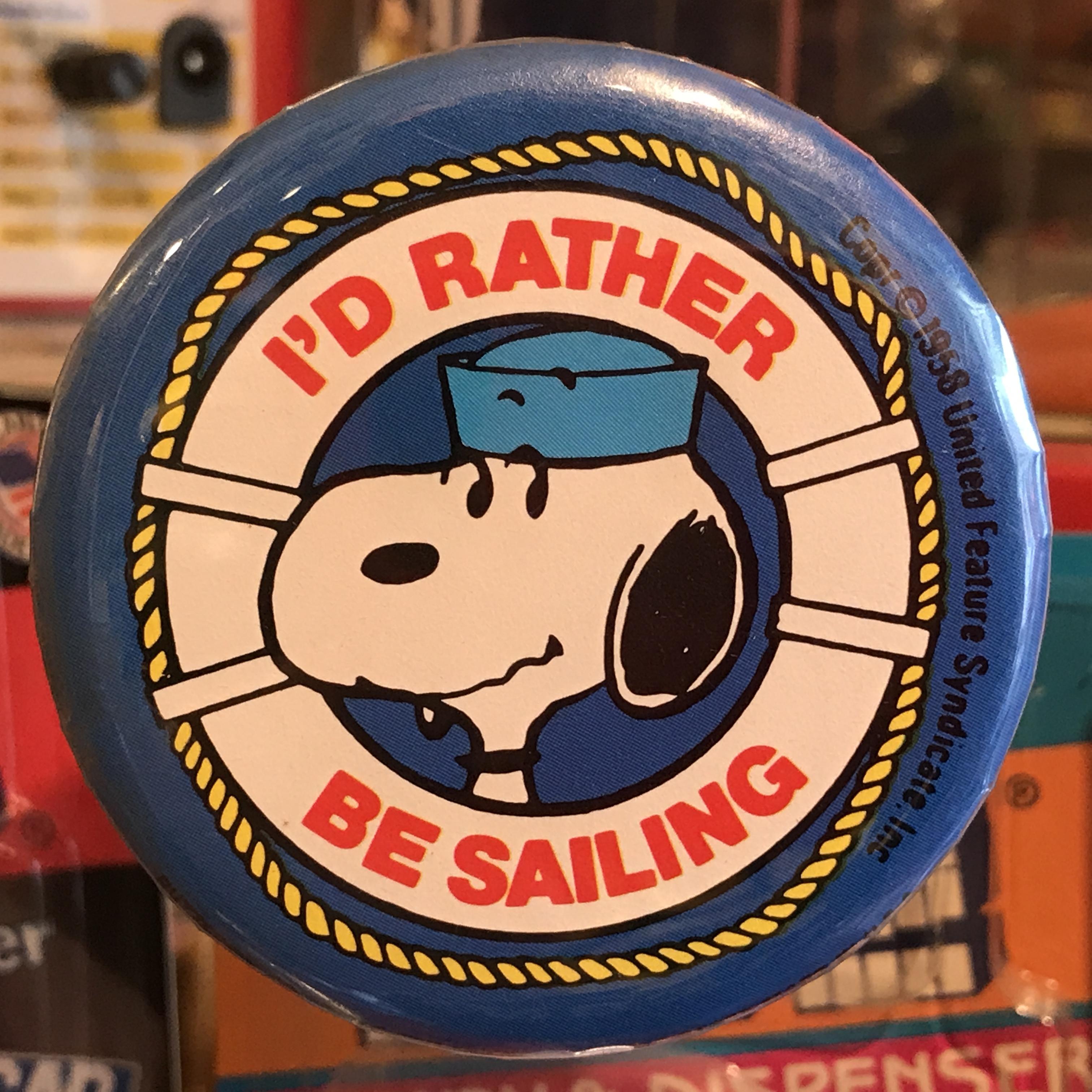 スヌーピー 70's U.S.A.製 オールド 缶バッジ セーラーマンver.