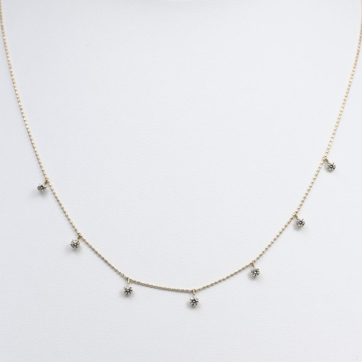 K18 0.50ctダイヤモンドネックレス