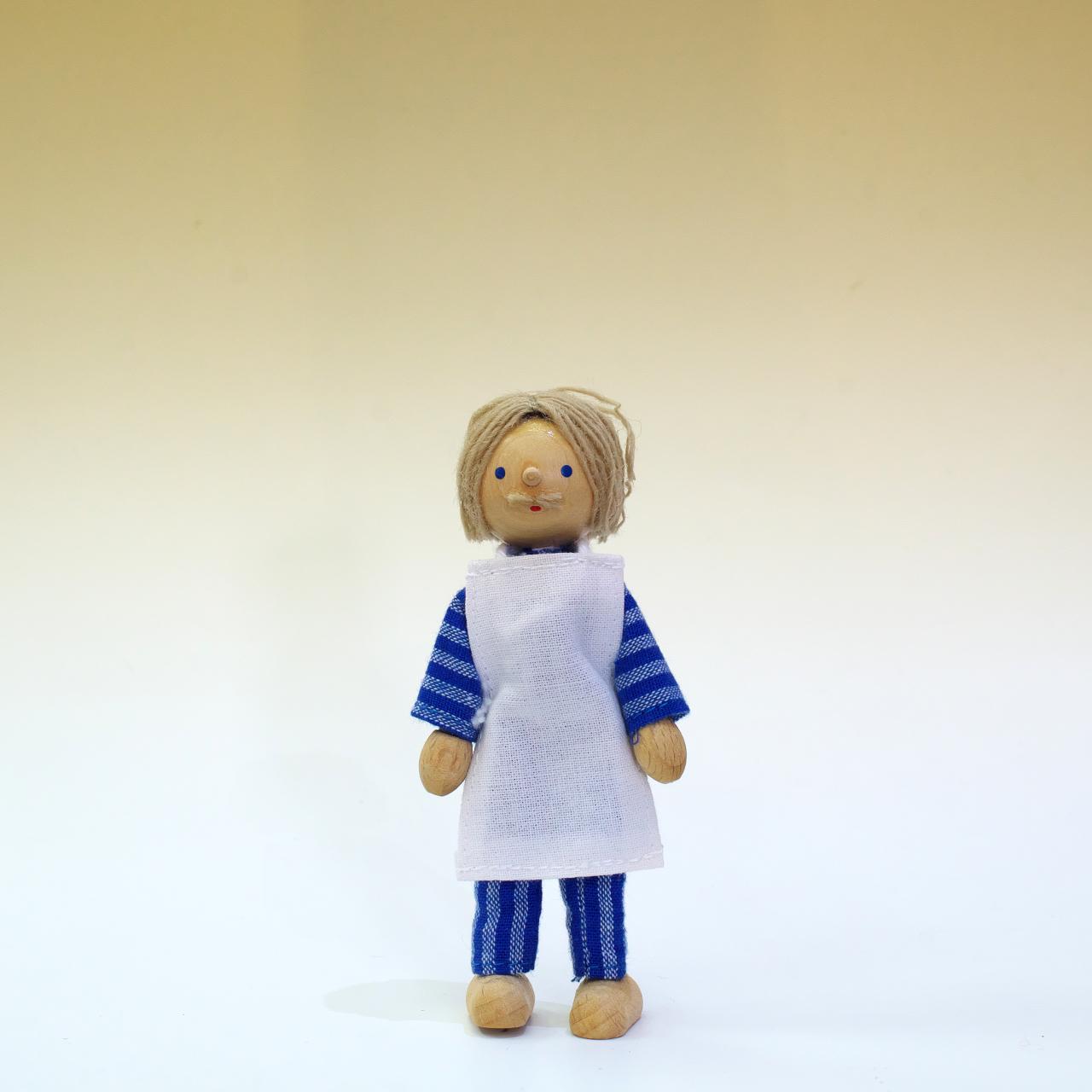 ヘアヴィック製人形 エプロンおじいちゃん