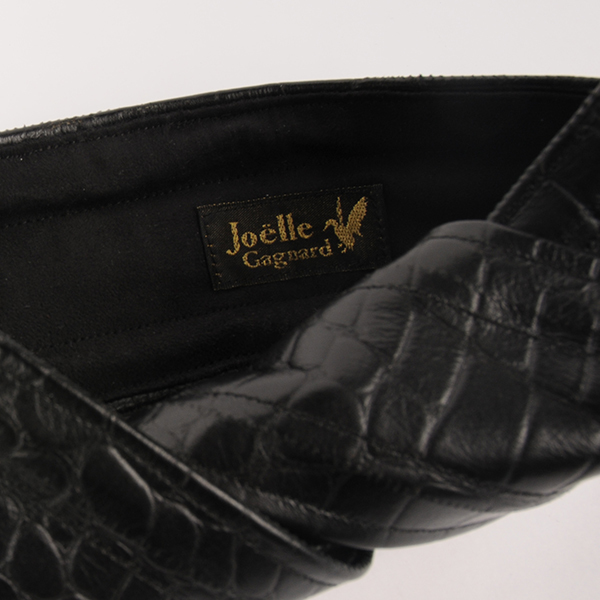 Joe17AW-27 leather wire tie (black)