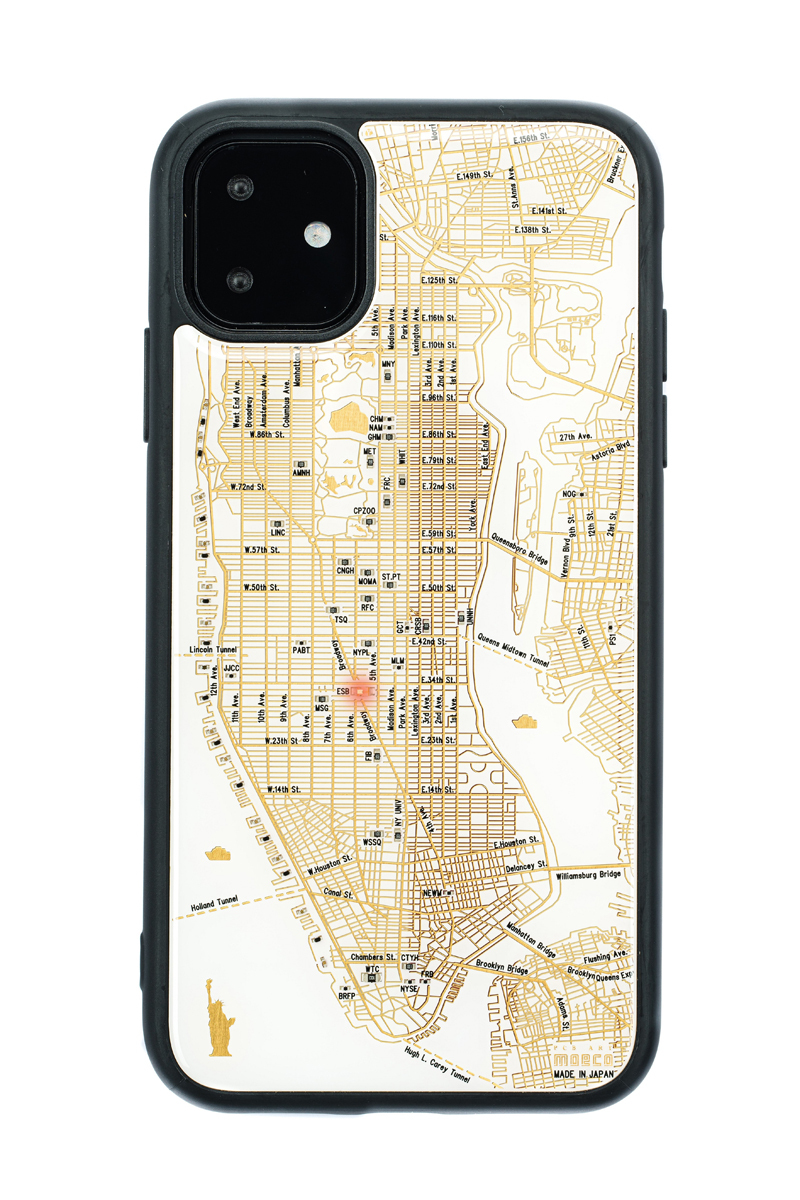 FLASH NY回路地図 iPhone 11 ケース  白【東京回路線図A5クリアファイルをプレゼント】