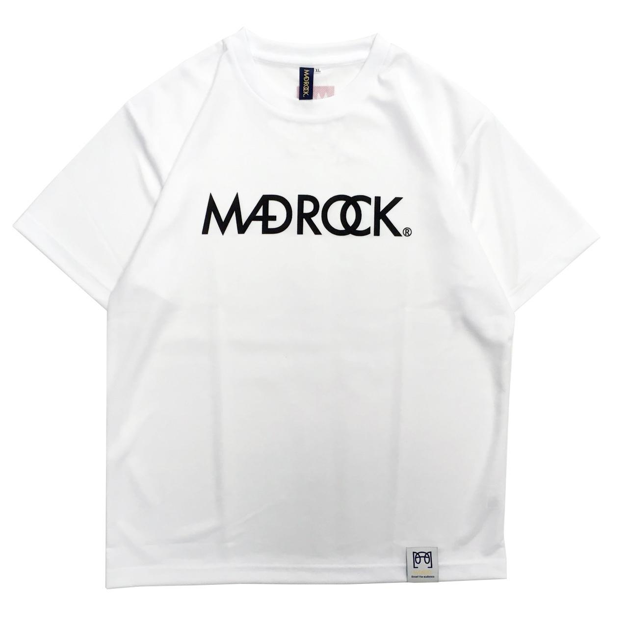 【再入荷】マッドロックロゴ Tシャツ/ドライタイプ/ホワイト
