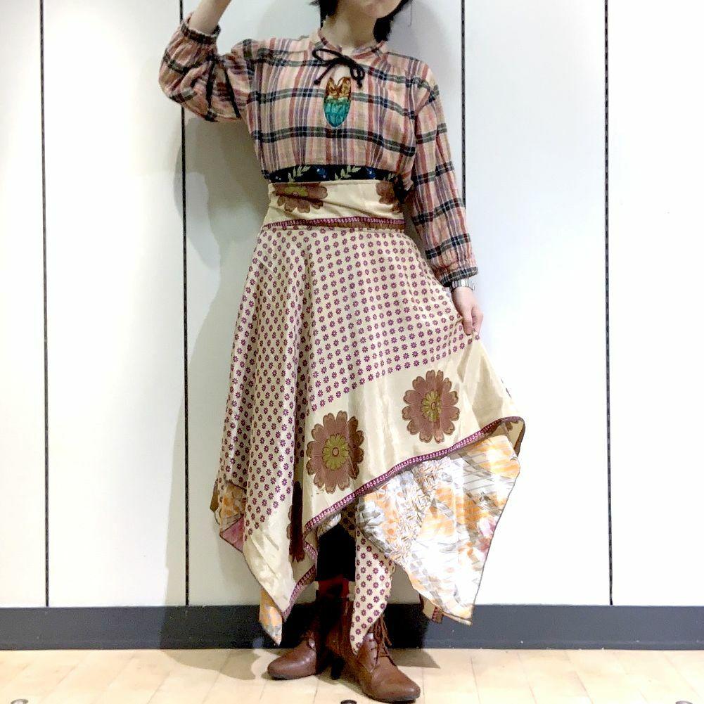 dsz-013 【新価格】シルクサリーギザスカート