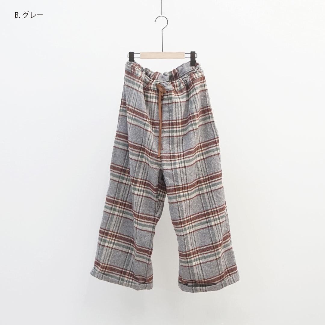 ichi イチ ネップチェックパンツ セットアップ 【返品交換不可】 (品番190628)