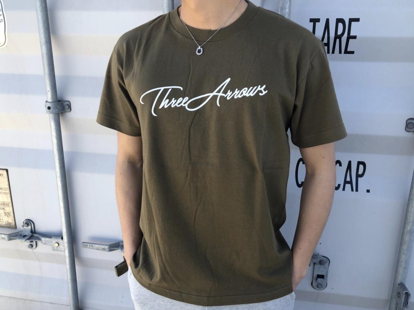 ThreeArrows Tシャツ(khaki)