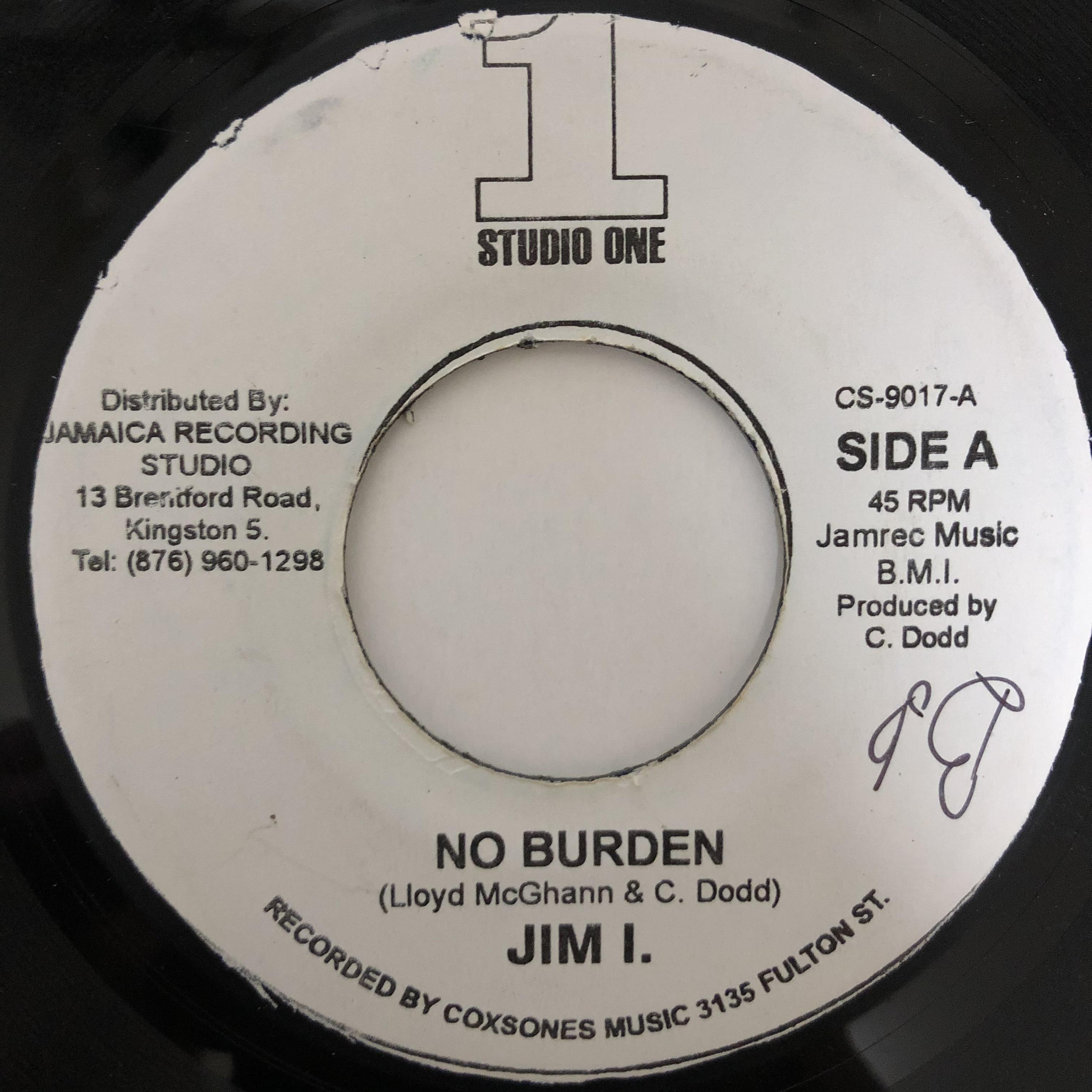 Jim I. - No Burden【7-20434】
