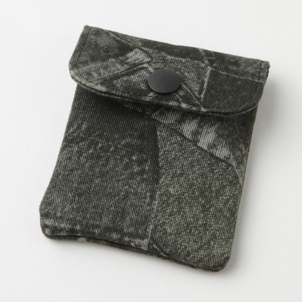 携帯灰皿 おしゃれ かわいい デニム ブラック アシュトレイ 48008 職人技のハンドメイド インナーリフィル合計2個付属 日本製