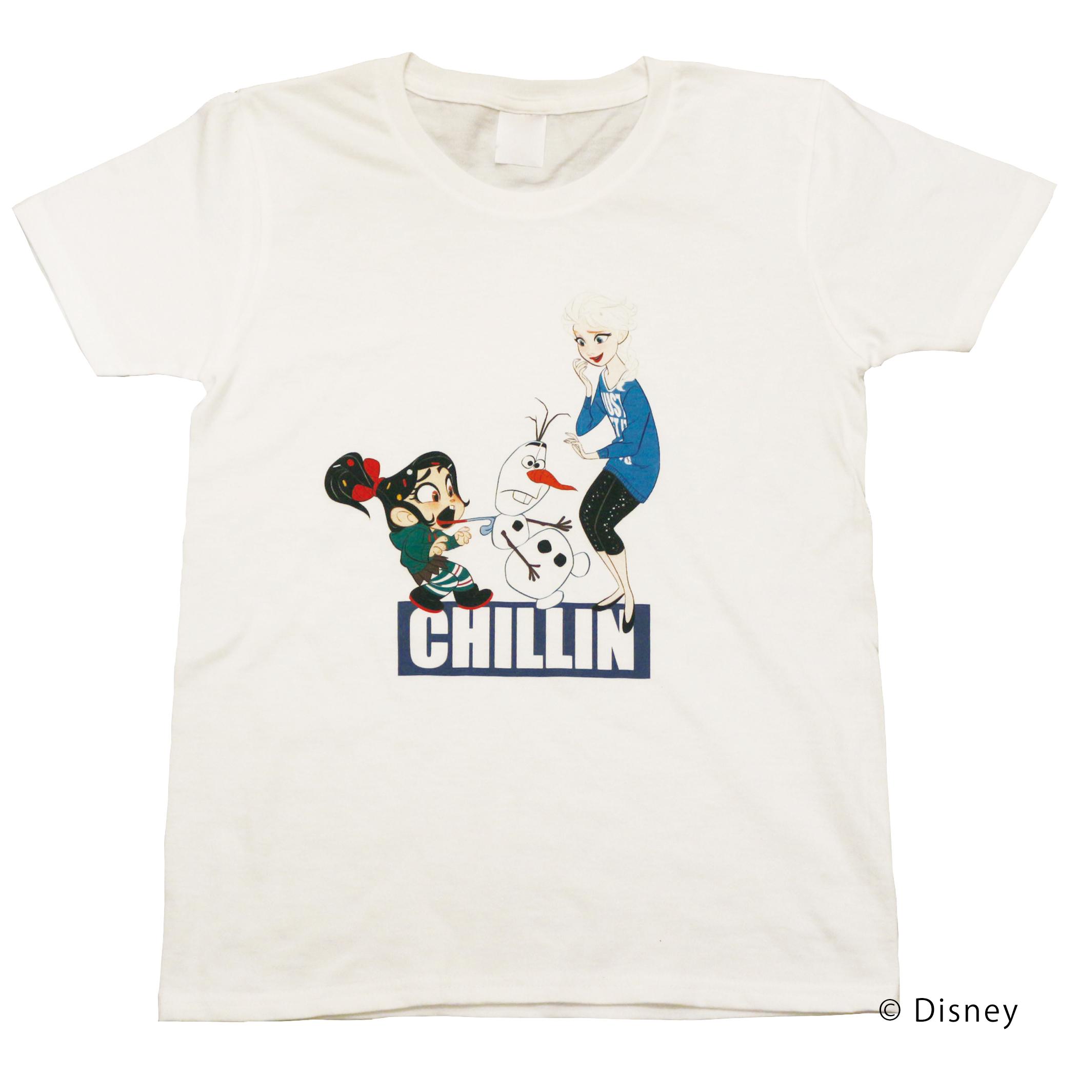 【ディズニー】シュガー・ラッシュ:オンライン|ヴァネロペ & エルサ Tシャツ