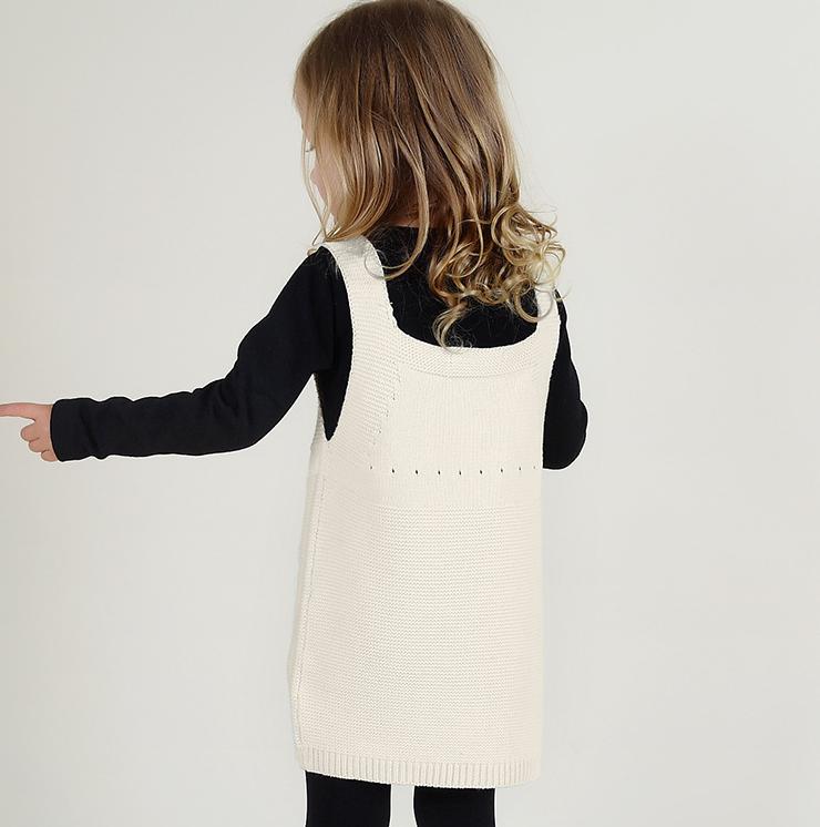 【即日発送セール】100サイズ 女の子服レインボーニットワンピ【TO012】