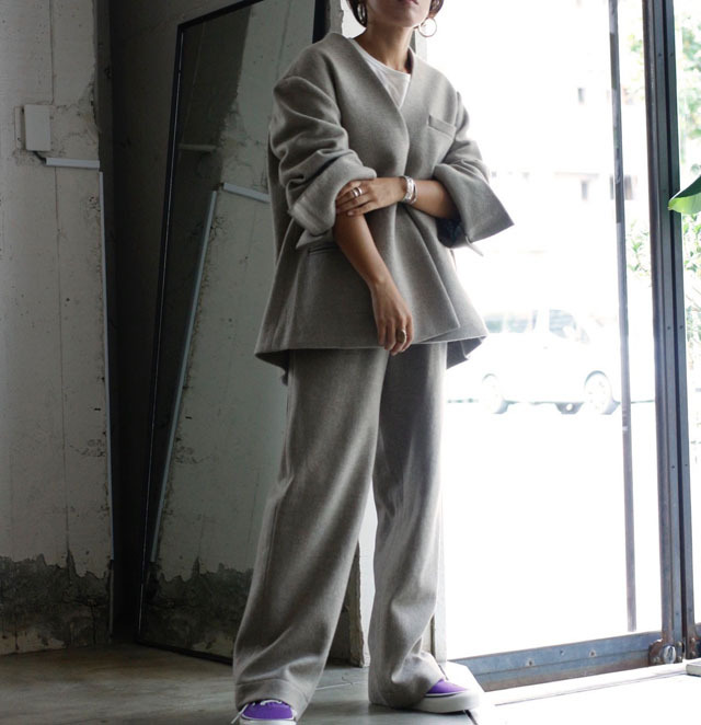 【pelleq】 Over Sized Jacket