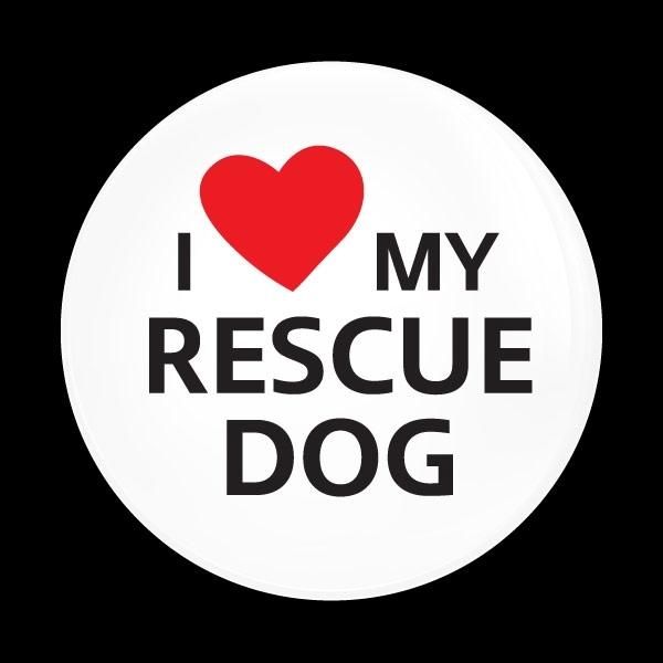 ゴーバッジ(ドーム)(CD1077 - I LOVE RESCUE DOG) - 画像1