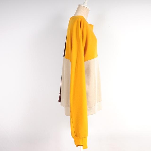 hs18AW-IR07  BI-COLOR TOPS (yellow)
