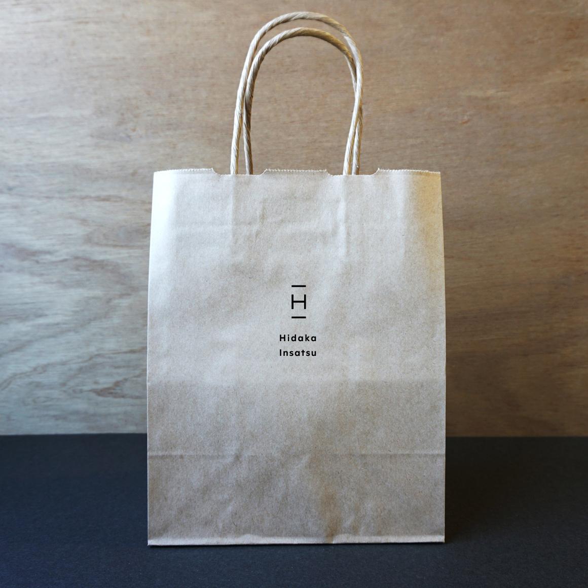 オリジナルデザイン箔押し紙袋