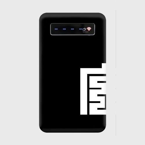 ※受注発注 だんじり宮本町-カップル左-black モバイルバッテリー