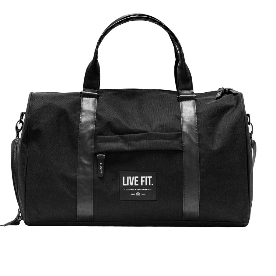 LIVE FIT Vector Duffel Bag - Black