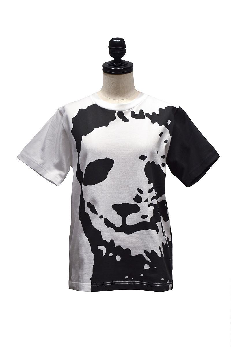 my panda / close-up パンダTシャツ / White×Black