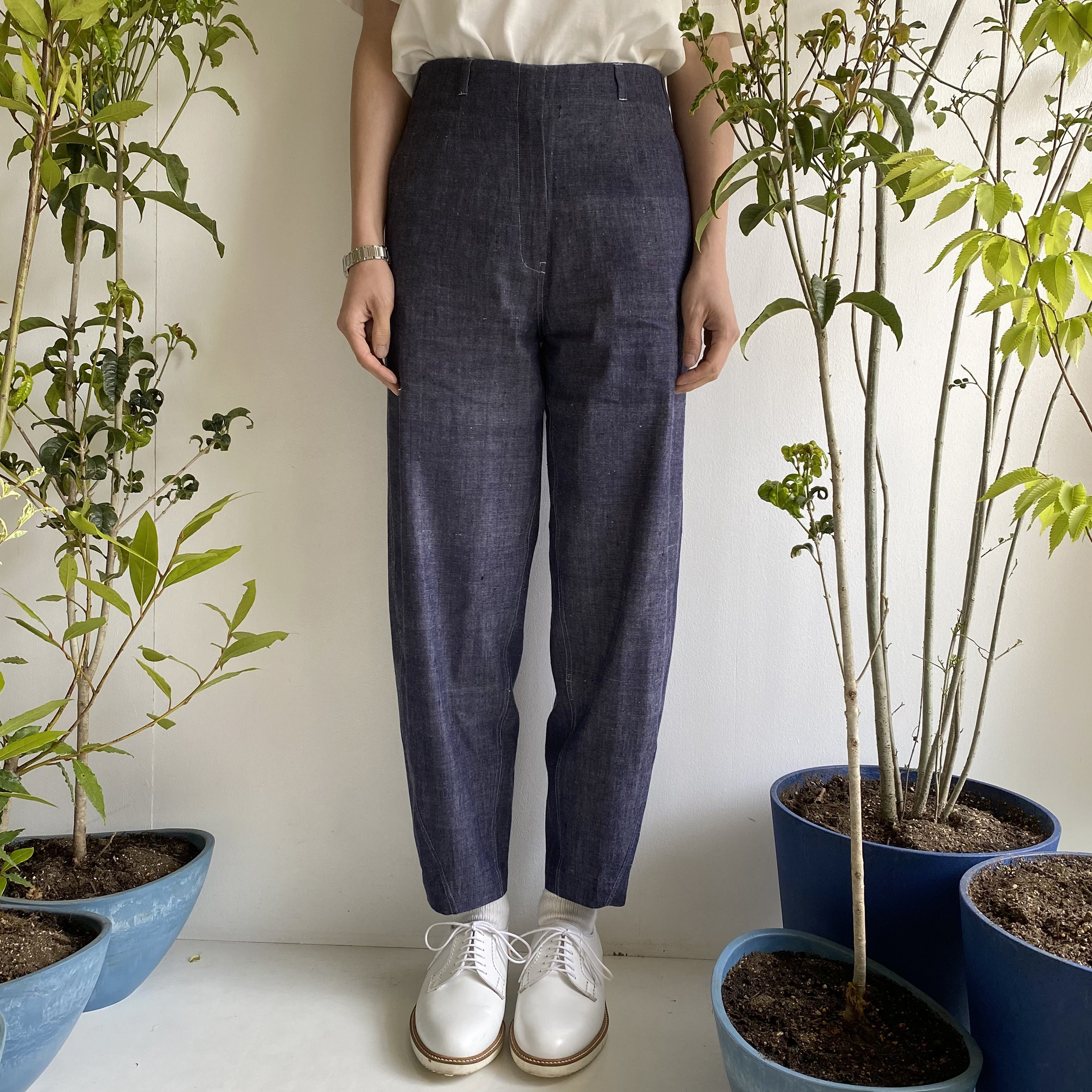 "High Waist Pants ""indigo"""