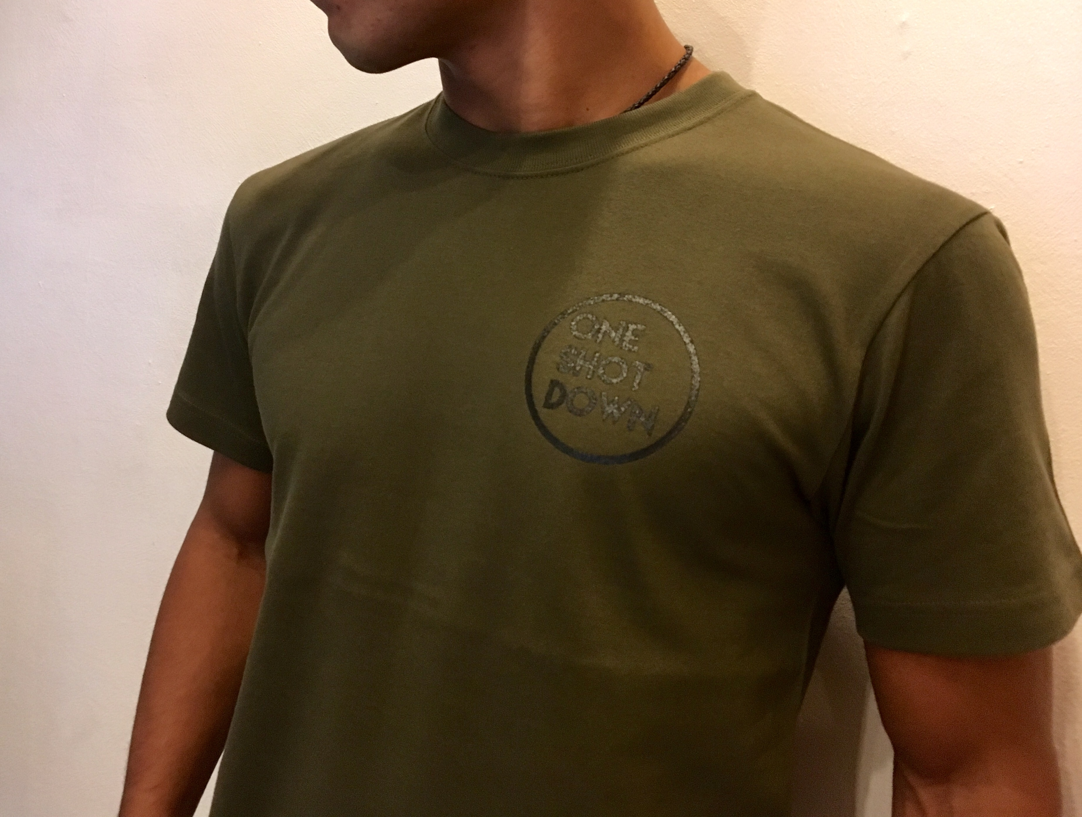 ONESHOTDOWN サークルロゴ Tシャツ - 画像4