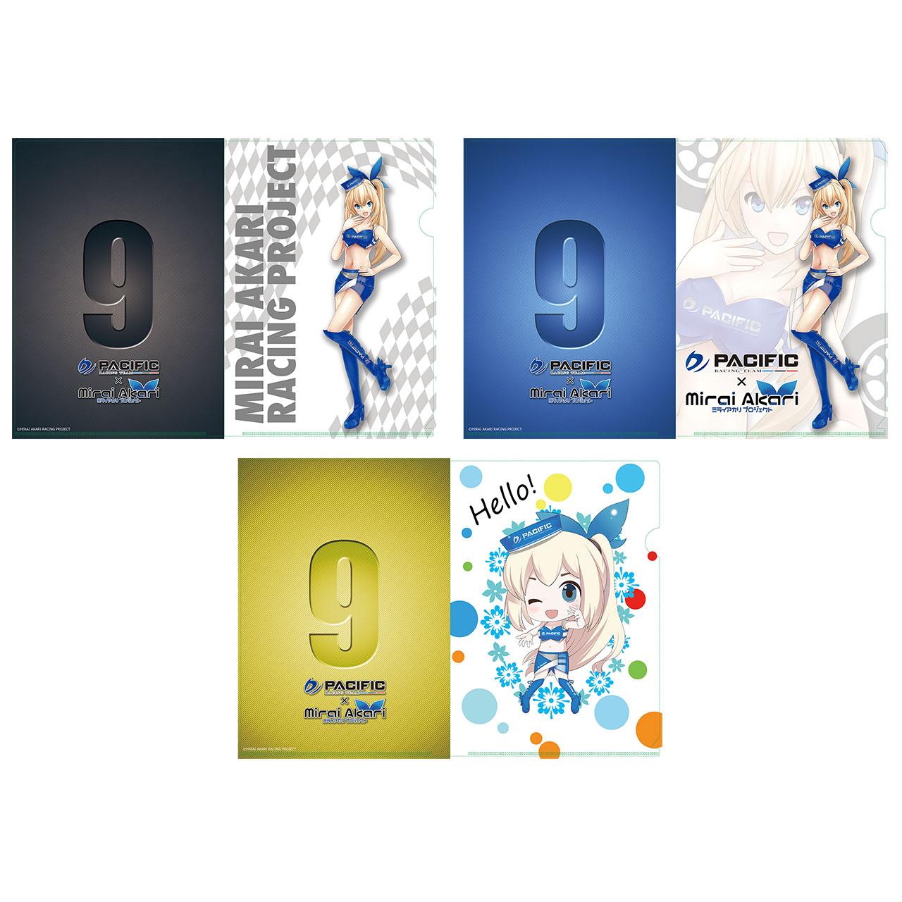 【数量限定】パシフィックレーシングチーム×ミライアカリ/クリアファイル レースクイーンVer.