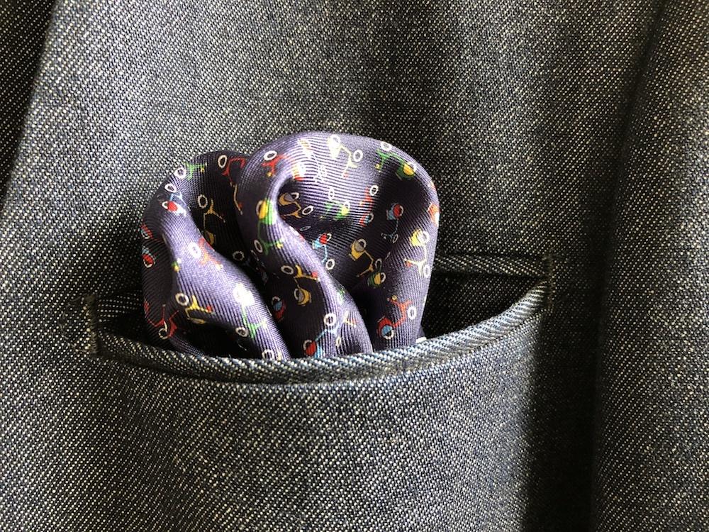 絹ポケットチーフ|FEFE001