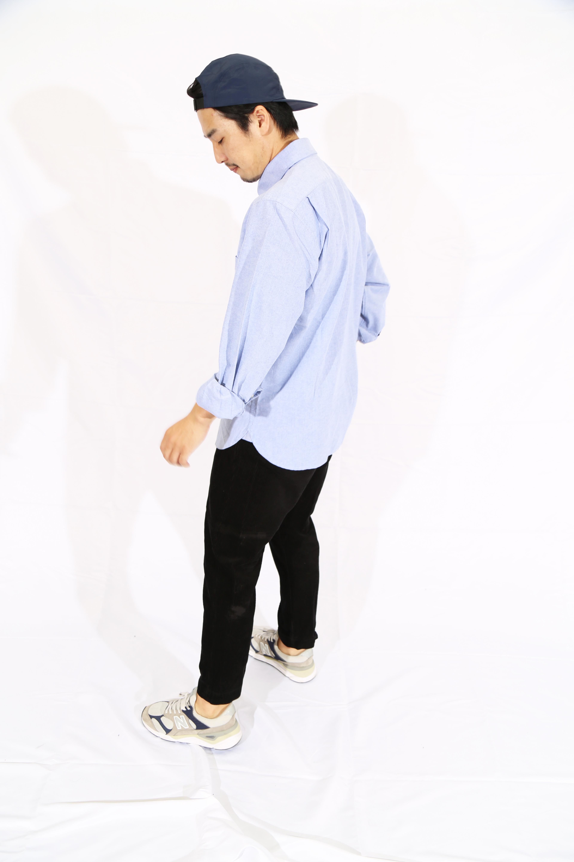 20023 OSAMUオックスフォードボタンダウンシャツ L.BLU
