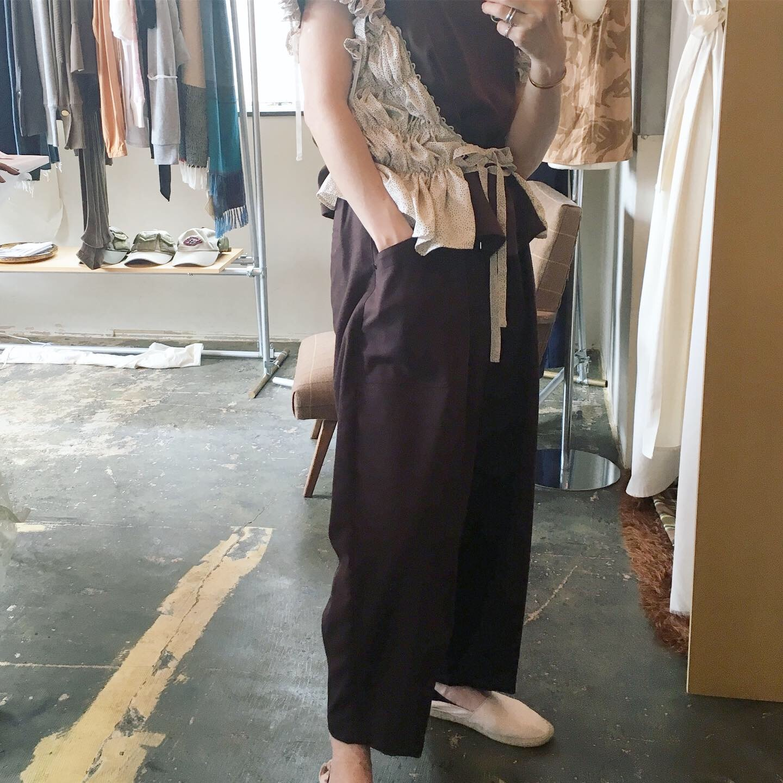 【 OTOÄA 】オトア SAXONY WIDE BALLOON PANTS