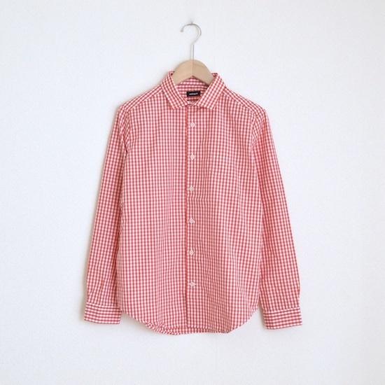 maindish SMALL POCKET CHECK SHIRTS / RED