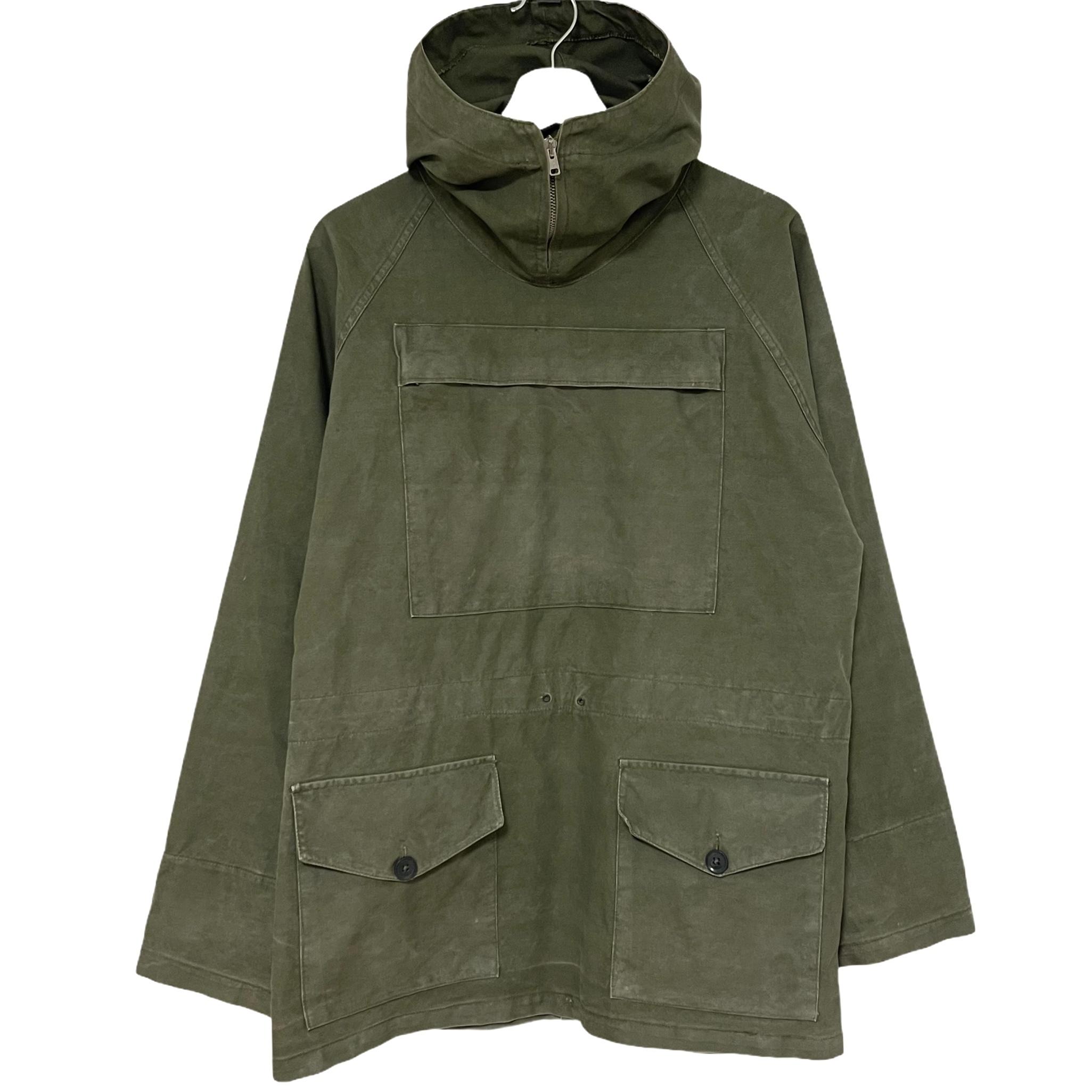 60's British Military Smock Windproof Green Cade 【3】
