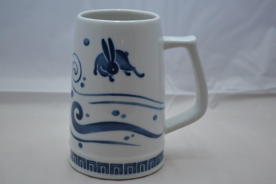 うさぎビアマグカップ(波兎)