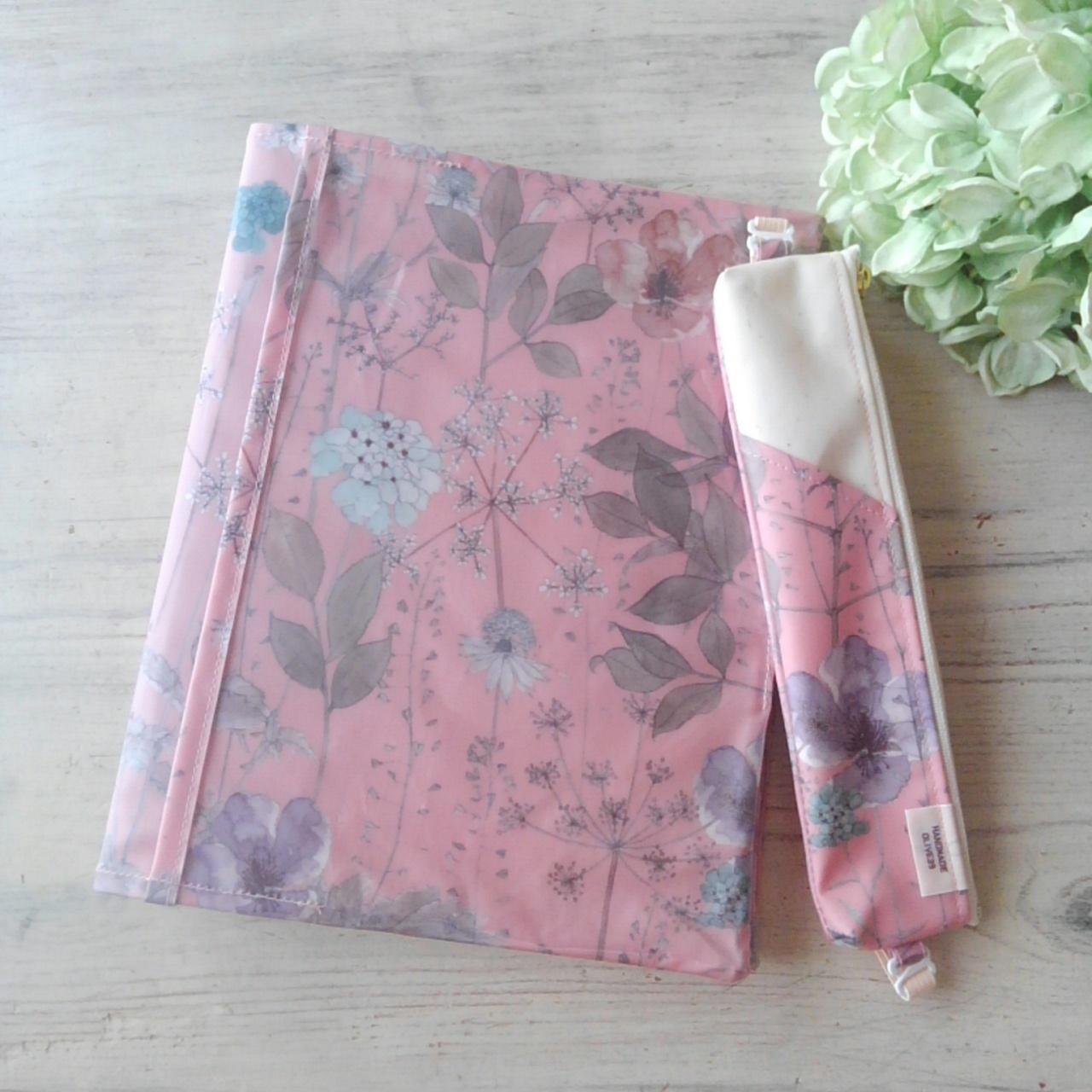 【販売終了】イルマ ピンク*リバティ手帳カバー・ぺンケースセット*ナカバヤシサイズ