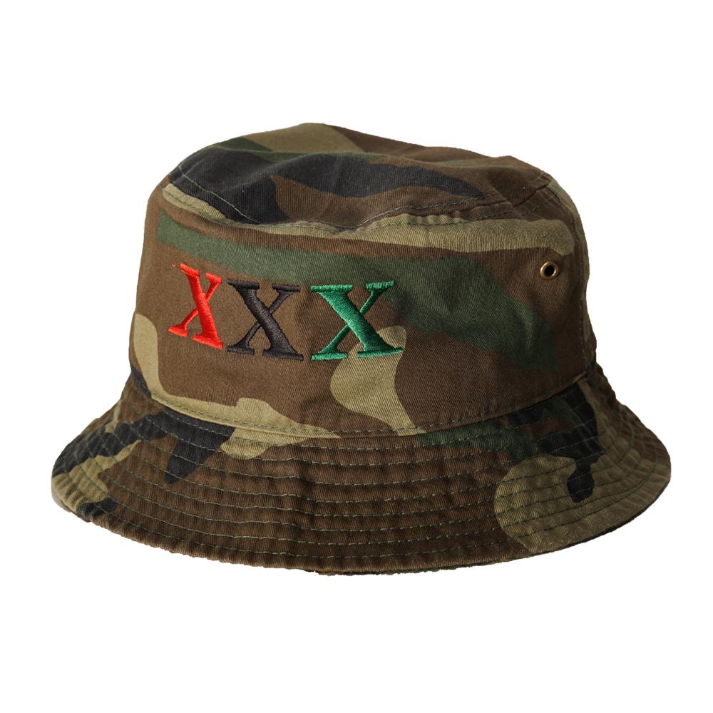 Stay Black Salute XXX BUCKET HAT (CAMO)