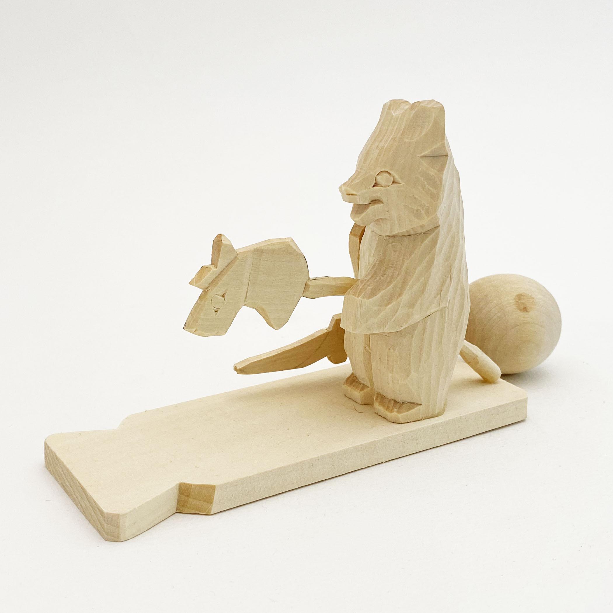 ボゴロツコエ木地玩具「クマのお馬遊び」