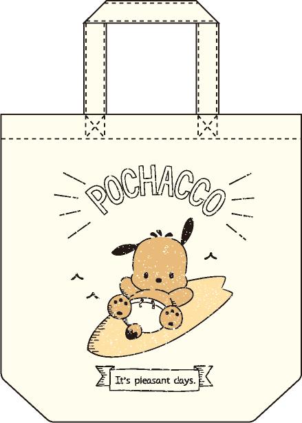 ポチャッコ cafe 限定コラボトートバッグ(サーフボードタイプ)